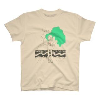 入道雲とかきごおり Tシャツ