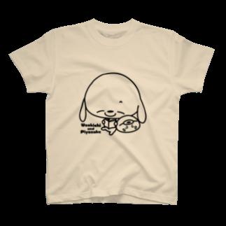chibinocoのうさきちとぴよすけ その3Tシャツ