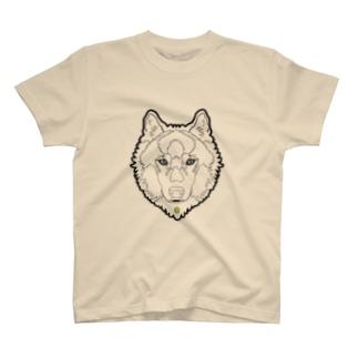 狼(ライン) Tシャツ