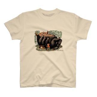 """Dark blanco """"Monster 1"""" Tシャツ"""