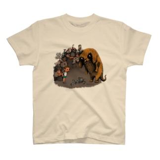 """Dark blanco """"Monster 4"""" Tシャツ"""