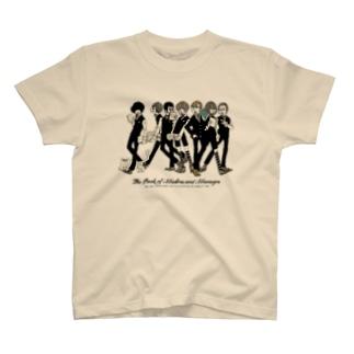 上から部長と6人の書店員(薄色ボディ推奨) Tシャツ