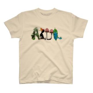 """Dark Blanco """"AZUL"""" ジャングル Tシャツ"""