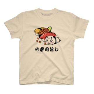 パンダinぱんだ(@寿司旨し) Tシャツ