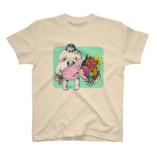 さちおくんと花束 Tシャツ