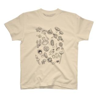 きのこ盛合わせ Tシャツ