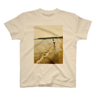 うみべにて Tシャツ
