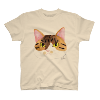 もずく秘書のフェイス Tシャツ