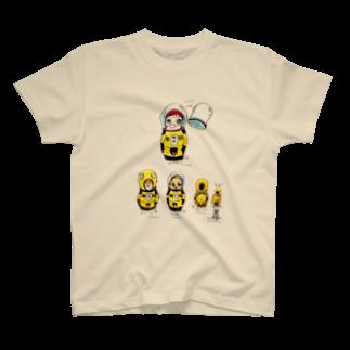 ヤノベケンジアーカイブ&コミュニティのヤノベケンジ《サン・チャイルド》(マトリョーシカシリーズ) Tシャツ