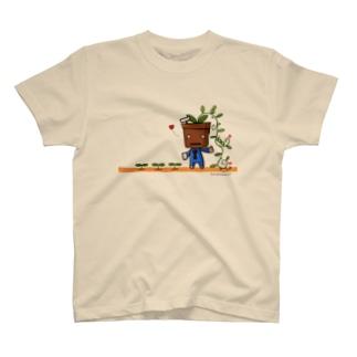 植木デコはちろー Tシャツ