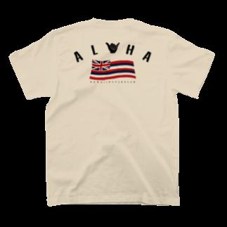 HSC ハワイスタイルクラブの〔Back Print〕Aloha Flag T-shirtsの裏面