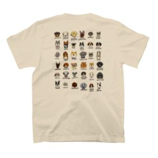 犬たくさん バックプリント T-Shirt