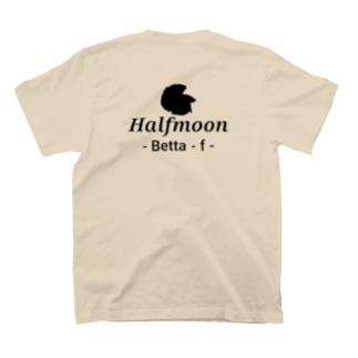 Halfmoon Betta⑥Black 背面 T-shirts