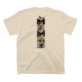 背中にトーテムCAT T-shirts