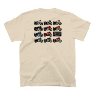 バイクは楽しいの日本刀いろいろ T-Shirtの裏面