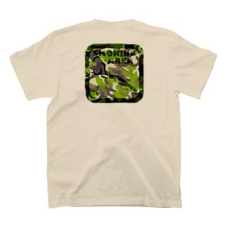 SMOKING AREA/カモフラ T-shirts
