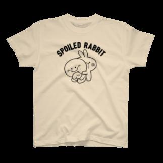 AKIRAMBOWのSpoiled Rabbit / あまえんぼうさちゃん T-shirts
