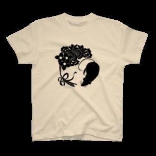 AsobuyerのSF家紋「鼠に華束」 T-shirts