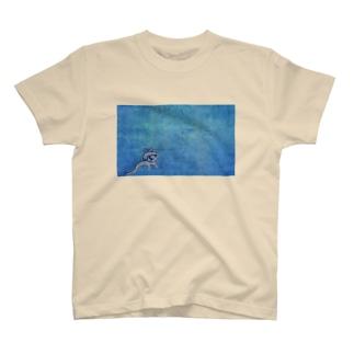 きりこちゃんBLUE T-shirts