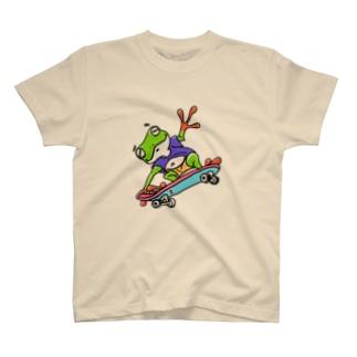 ぽっちゃりかえるライダー T-shirts