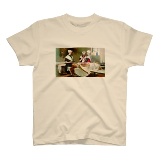 Three girls in the morgue T-shirts