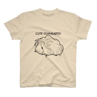 かわいいモルモット (ペルビアン) T-shirts