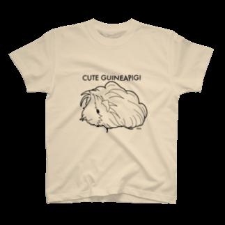 nins・にんずのかわいいモルモット (ペルビアン) Tシャツ
