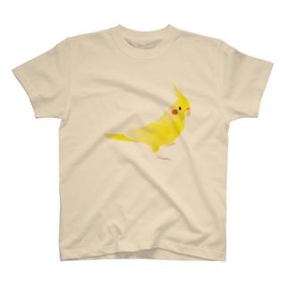 オカメインコ イエロー T-shirts