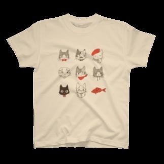 やとりえ-yatorie-のオシャレねこ Tシャツ