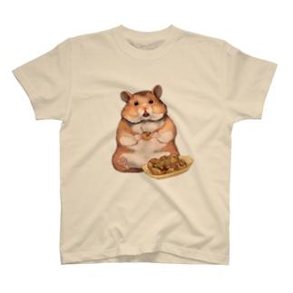 たこ焼き食べるハムちゃん T-shirts