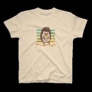 ヤマノナガメのハリネズミの贈り物 Tシャツ