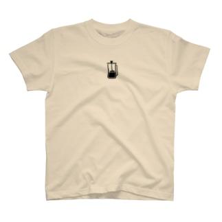 フレンチプレスコーヒー T-shirts