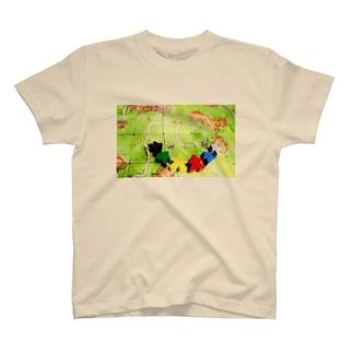 カルカソンヌとミープル T-shirts