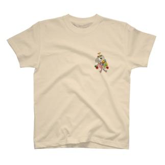 ROBOBO ヨウム 「るるロボ」 T-shirts