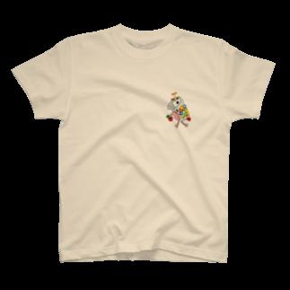 ねこぜや のROBOBO ヨウム 「るるロボ」 T-shirts