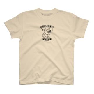 【Tシャツ】ちょいワル犬♪ (黒) T-shirts