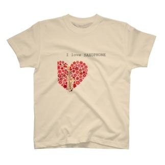 I love SAXOPHONE サキソフォンTシャツ 楽器 音楽 T-shirts