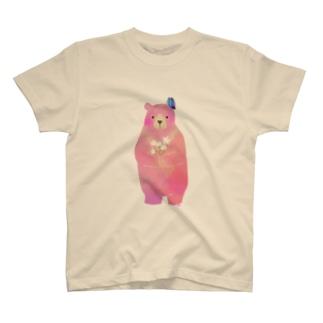 くまだ キッズちょうちょ T-shirts