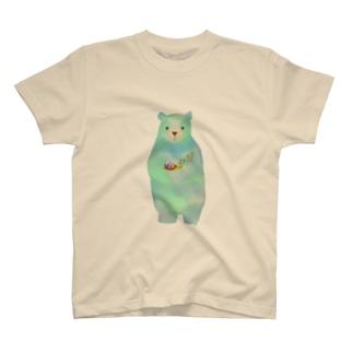 くまだ キッズくいしんぼ T-shirts
