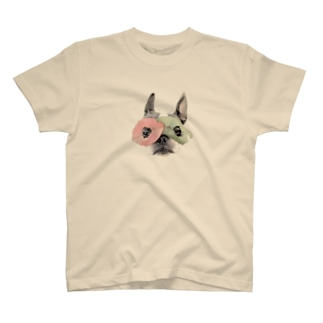 むにむに葉っぱ仮面 T-shirts