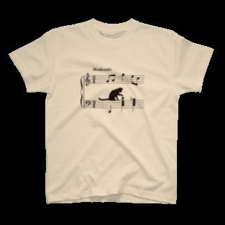 SHOP KazzBのネコ、音符にイタズラver.2 (TS) T-shirts