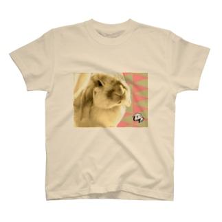 【uncle momo】たれ耳うさぎのモモおじさん T-shirts
