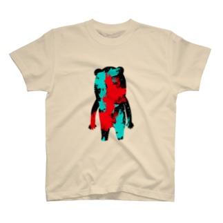 シルエット(ペンキ) T-shirts