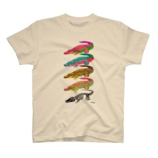 イリエワニ4+ホネ T-shirts