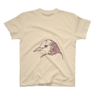 春の花々とジェンツーペンギン T-shirts