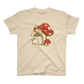 キノコとハムちゃん T-shirts