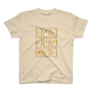 ぶちゃくま。食パン T-shirts