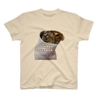 デグーといつも一緒 T-shirts