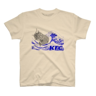 KFC_青波_青字_白抜き T-shirts