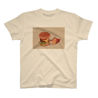 ハンバーガーとポテト T-shirts